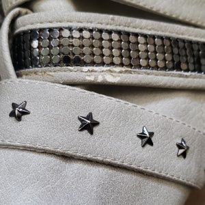 Not Rated Shoes - 《Not Rated》 Embellished Buckle Boots